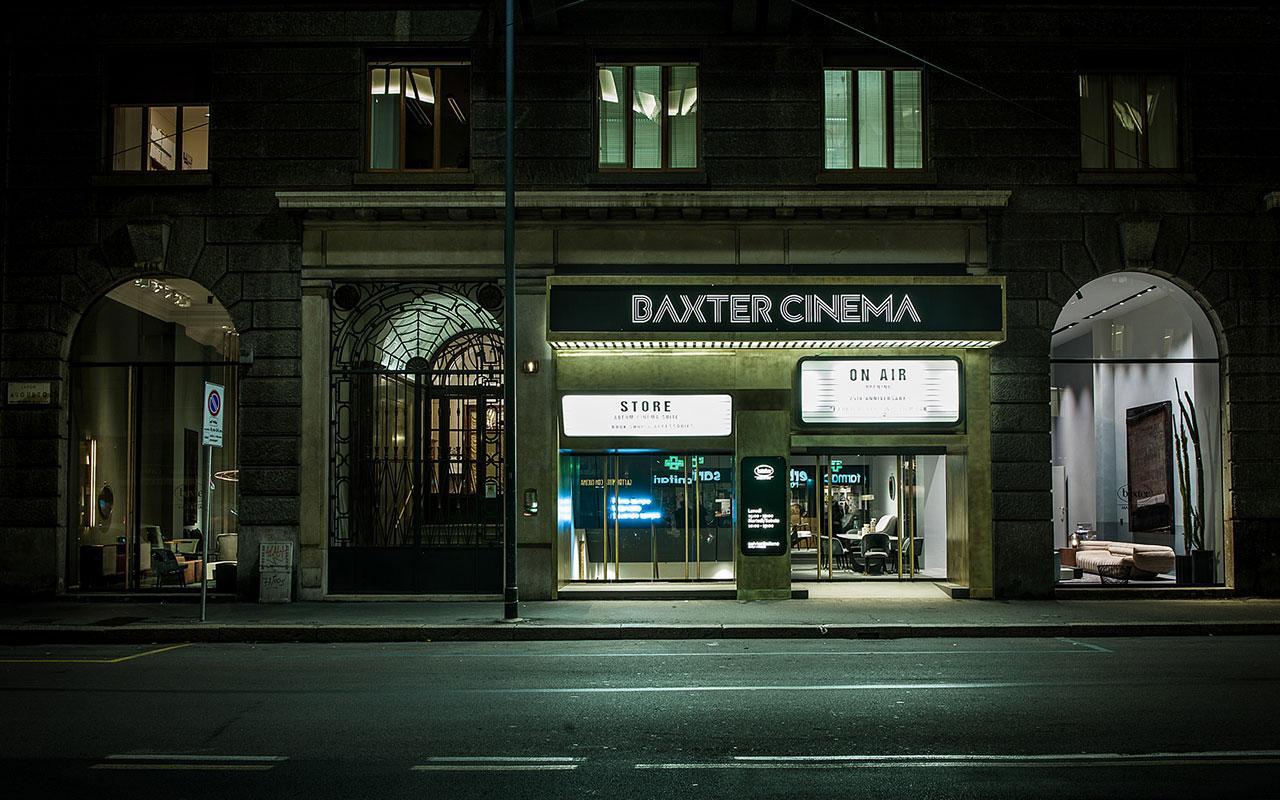 DA CINEMA A STORE: L'INAUGURAZIONE DI BAXTER CINEMA